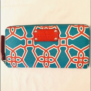 Kate Spade Neda Moroccan Market Zip Around Wallet